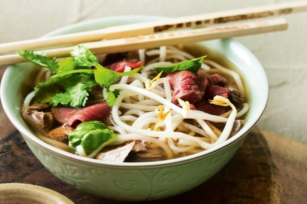 The secret to Vietnamese pho is a rich broth, so make it the night before.