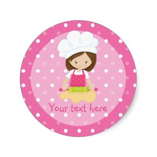 Girl's Pink Cupcake Wars Baking Birthday Party Classic Round Sticker