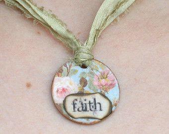 GELOOF * religieuze sieraden * religieuze Gift * geloof sieraden * Christian…
