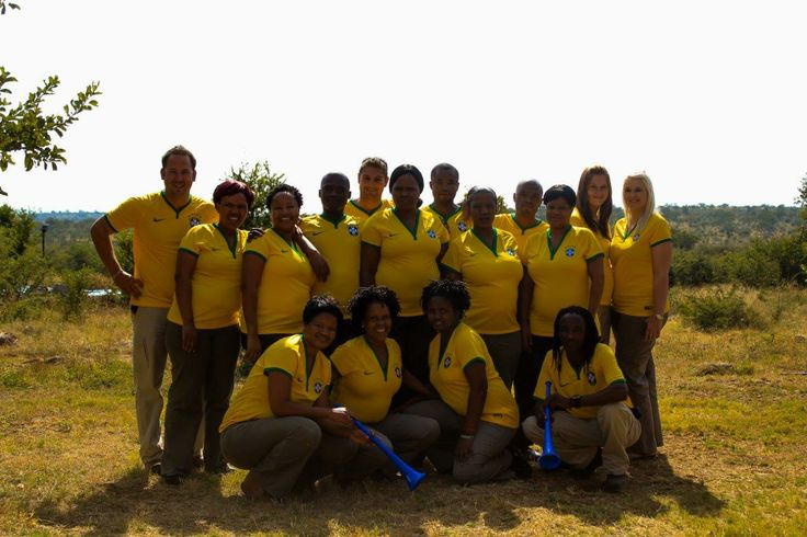 The Rhulani Team enthusiastically supporting Brazil for the 2014 Fifa World Cup