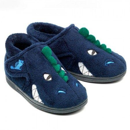 Chipmunks Dino Navy Blue Slippers