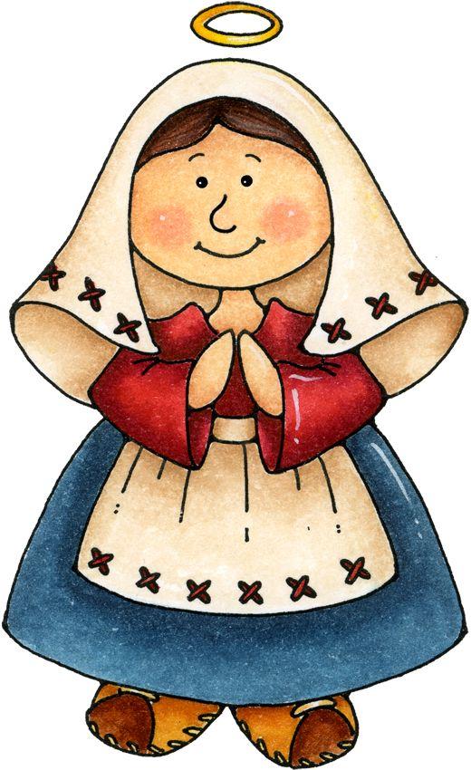Nacimiento: La Virgen María. dibujo