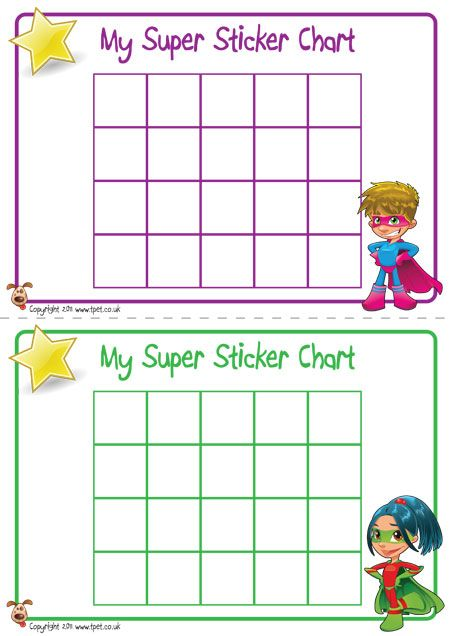 teacher u0026 39 s pet - superhero sticker charts