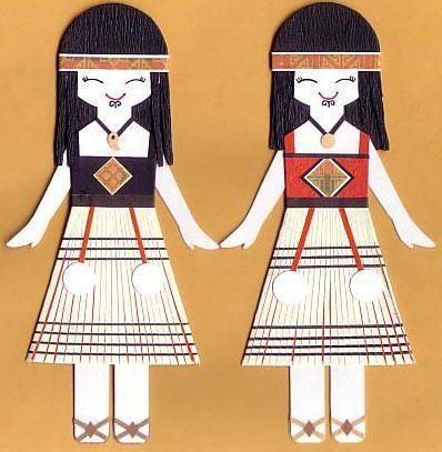 Maori Paper Dolls by Kirakirahoshi   LUUUX