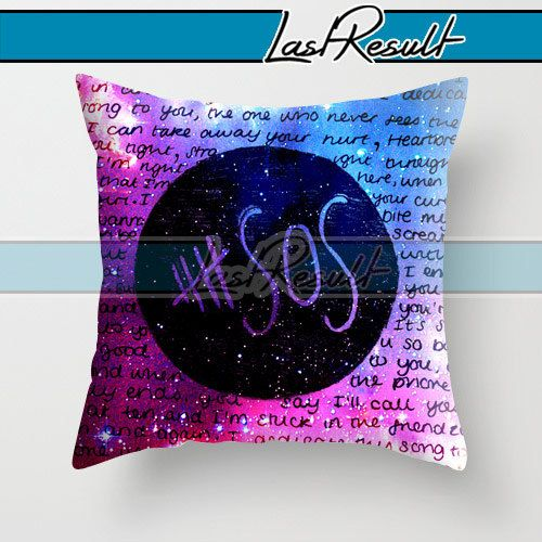 5sos galaxy design on decorative pillow covers by for 5sos room decor ideas