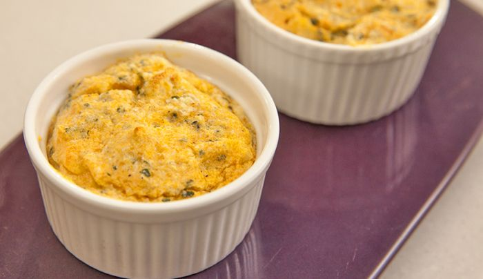 Sweet Potato & Kale Souffle