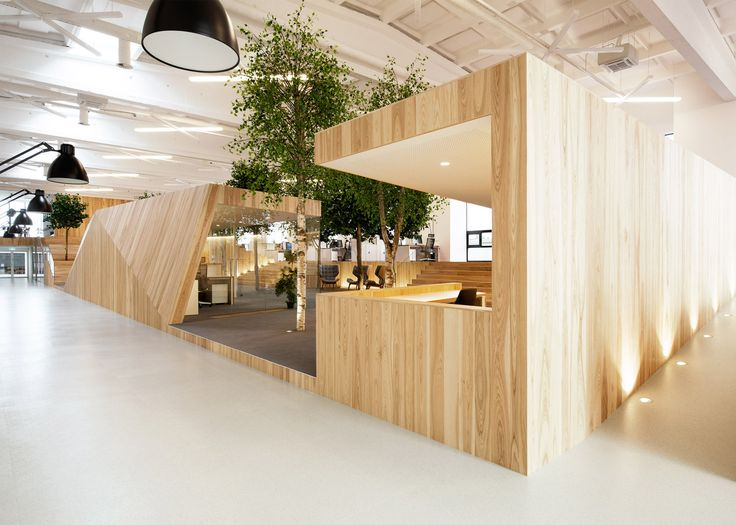 kamp arhitektid creates tree filled office within former factory architect office supplies