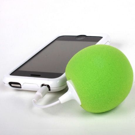 Music Balloon, portable and rechargeable USB speakers. TY to steamykitchen for the heads up.