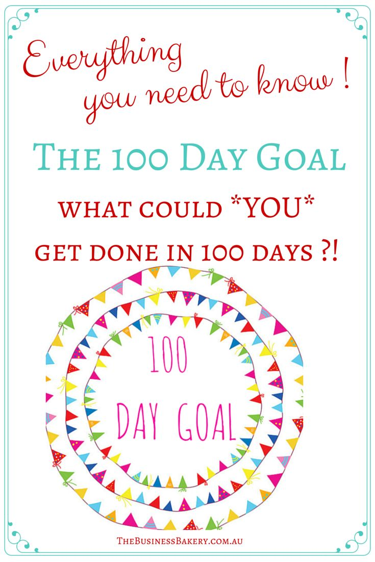 What could you get done in 100 days if you *really* put your mind to it?! Fancy giving the 100 Day Goal a try? Brilliant for solo, home-based, handmade and boutique business owners who want to get a project done, or give their business some oomph! The How-To is in the link and if you want to do it with us, we start 1 January 2016!