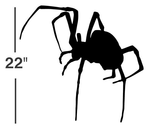 Black Widow Spider Decal // sticker // wall art // car ...
