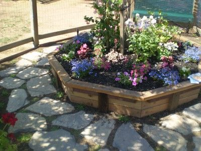shade tree flower beds garden idea for a raised flower bed with a tree for - Flower Garden Ideas For Under A Tree