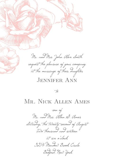 Special day invitations wedding