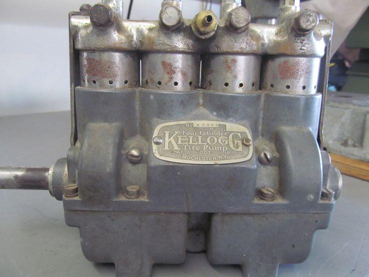 1910 Kellogg Model 34 Motorcar Tire Air Compressor