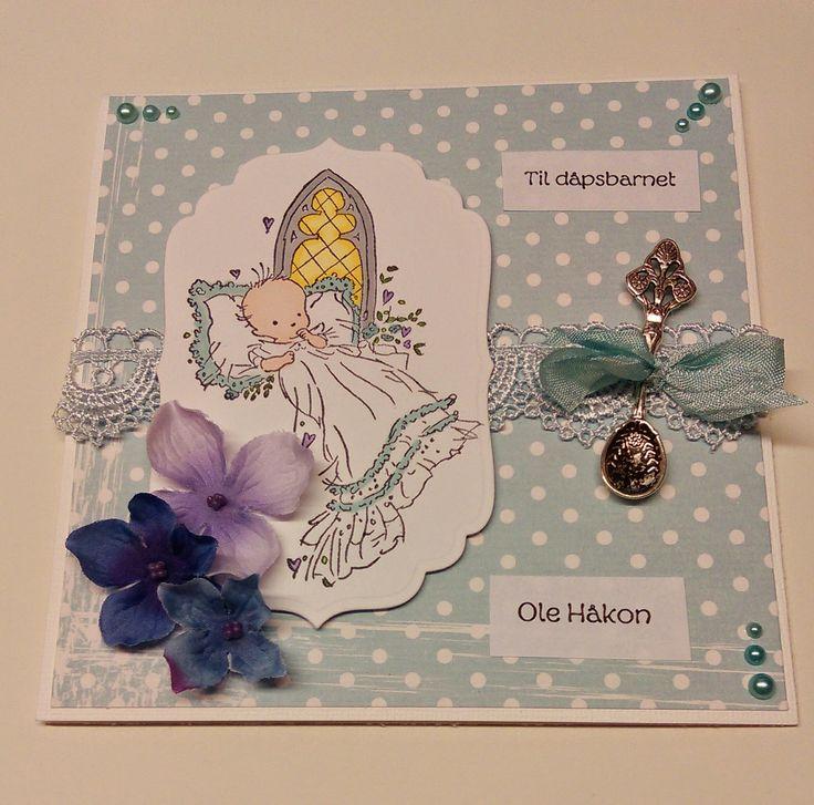 Baptism card for boy