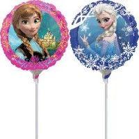 Frozen Mini mylar balloons, airblown with stick