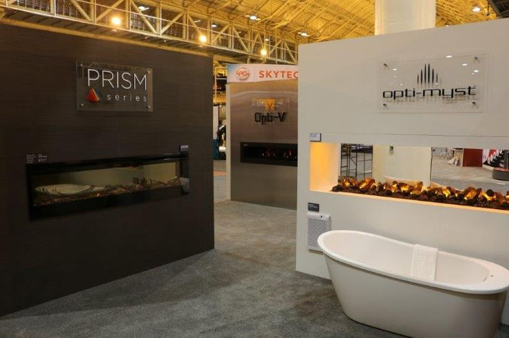 Dimplex Prism wall mount electric fireplace and Opti-myst on display at HPBExpo in New Orleans, March 2016. Learn more about these amazing new products at www.dimplex.com
