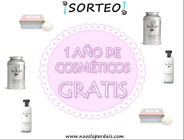 Sorteo 1 año de productos cosméticos #gratis