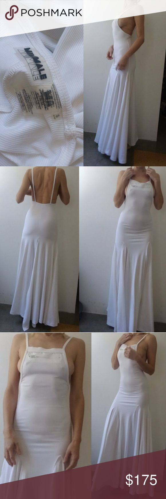 Nwot minimale animale festival white maxi dress s Pictures Say it all.. it's provocative and it's edgy and it's white and it stands out. Absolutely amazing rare piece from this friend I'm not a hundred percent sure I want to get rid of it so the price is firm no offers and no trades on this piece. Perfect new condition one only for a test shot indoors. Size small Minimale Animale Dresses Maxi