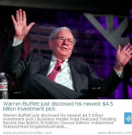 #investment #finance #warrenbuffet Warren Buffett discloses his newest $4.5 billion investment