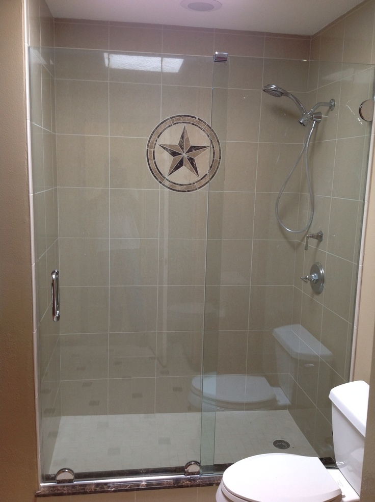 Sliding Frameless Shower Door Arc Glass Spring Texas