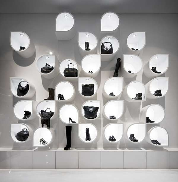 34 best images about tote bag display on pinterest craft for Sneaker wall display