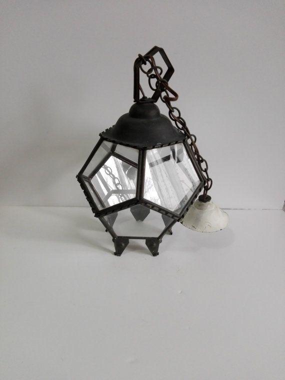 Lanterne french vintage forme dodecaèdre par ParisTresorsBoutique