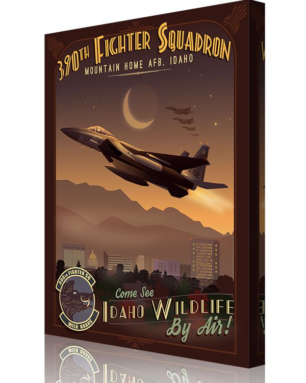 Share Squadron Posters for a 10% off coupon! Mountain Home AFB 390th Fighter Squadron F-15C #http://www.pinterest.com/squadronposters/