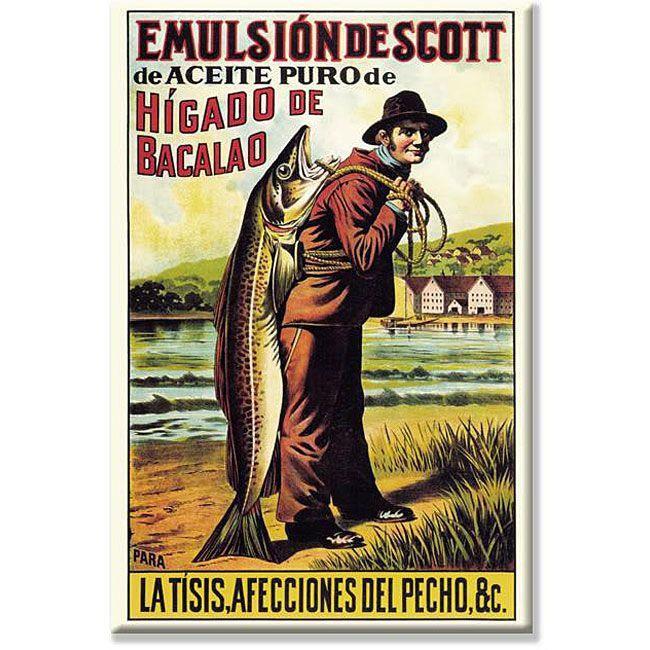 'Scott's Emulsion of Cod Oil' Gallery-wrapped Art