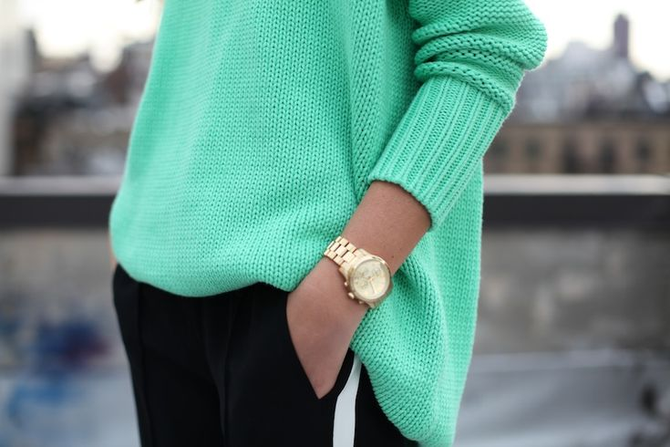 "great watch, great color, and love the ""tail"" on the sweater"