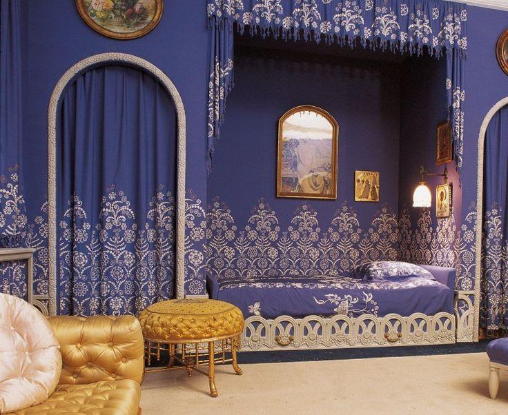 Chambre à coucher de Jeanne Lanvin  Armand Albert Rateau (1882-1938)   France, 1925   Bois peint, soie