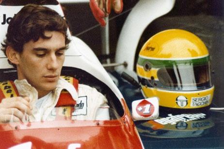 A young Senna in Abu Dhabi