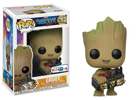 "Guardians of the Galaxy Vol. 2 - Pop! Marvel: Groot holding Bomb #263  Coming early October. Only at Toys ""R"" Us!"