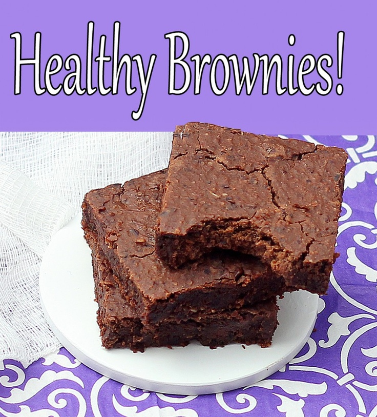 """The healthy brownie recipe that even """"non healthy eaters"""" have said tastes just as good as boxed brownies!"""