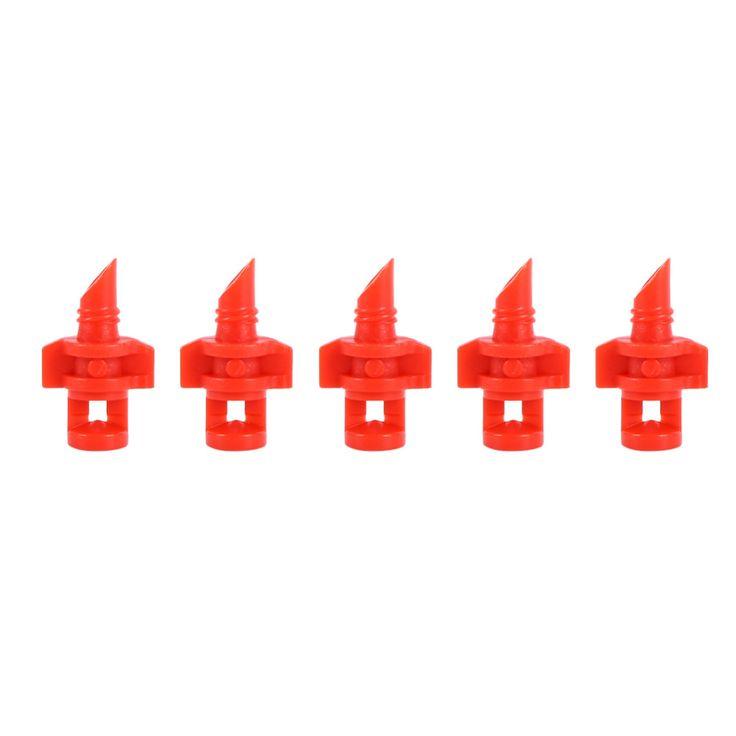 50 PCS 180/360 Degrés Arrosage Buse Équipement De Jardin En Plastique Rouge/Vert Utilisé pour BRICOLAGE Hydroponique/Aéroponique/Clonage Machine Syetem