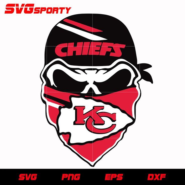 Download Kansas City Chiefs Skull 2 svg, nfl svg, eps, dxf, png ...