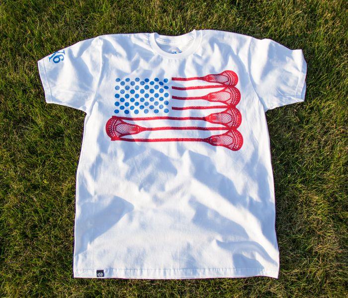 6x6 Lacrosse 'Merica lacrosse shirt