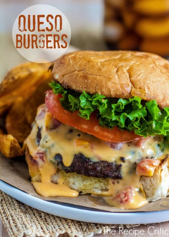 Cheesy queso dripping down a burger? Yes. Get the recipe from The Recipe Critic.   - Delish.com