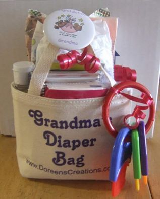 Grandma Diaper Bag This is a new biege linen tote bag Bag measures 4/1/2 inches…
