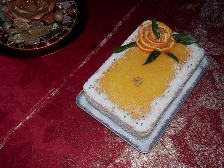 tort racoros cu portocale
