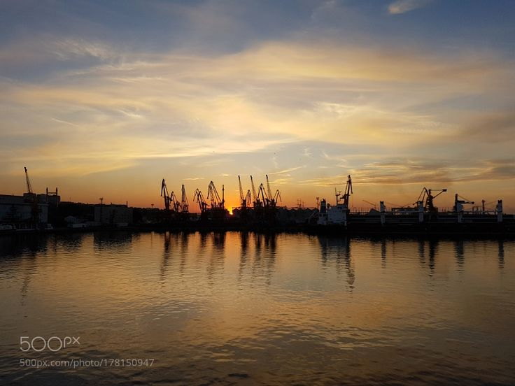 Sunset in the Odessa port by Jean-FranoisTaquet with sunsetportodessa
