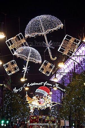 Christmas Lights, London, England - November 2012