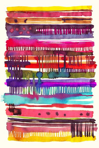 My knitting watercolor Art Print