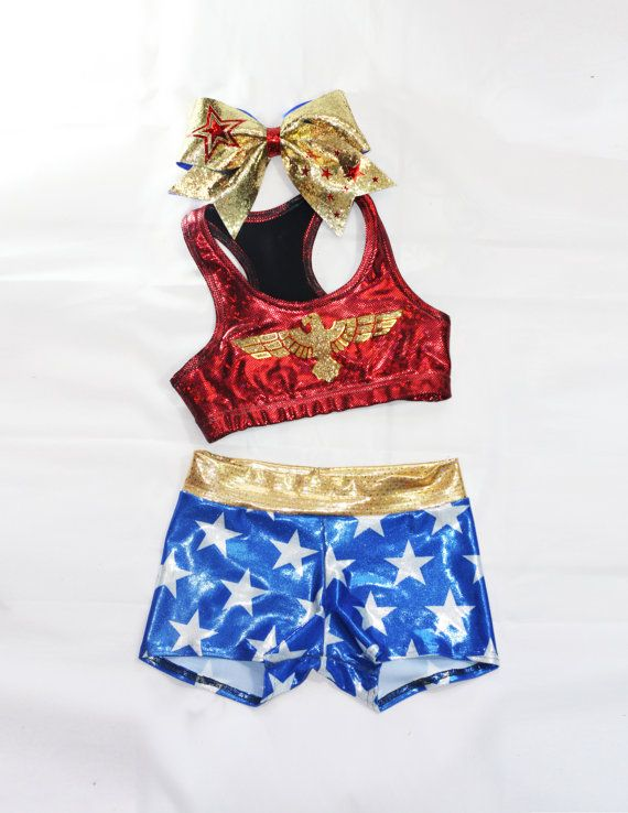 55Hey, I found this really awesome Etsy listing at https://www.etsy.com/listing/187737703/wonder-woman-inspired-workout-set