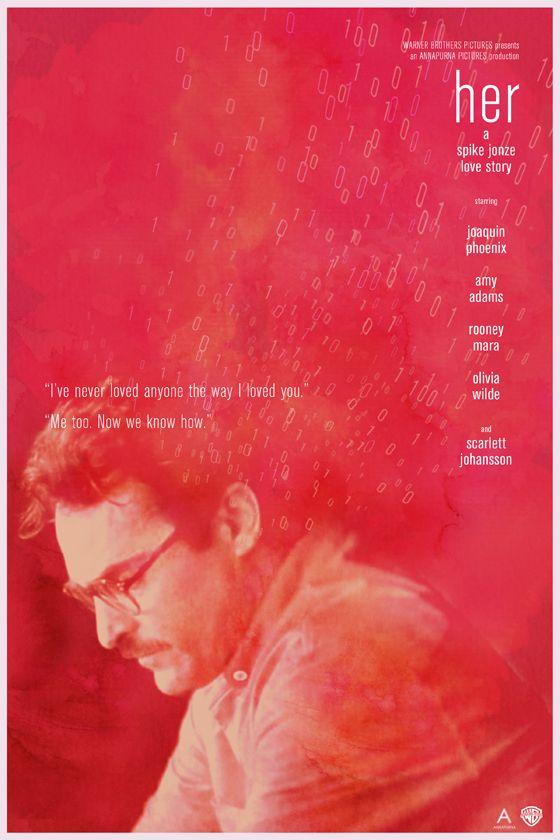 Her - alternative poster - Spike Jonze, Joaquin Phoenix, Scarlett Johansson