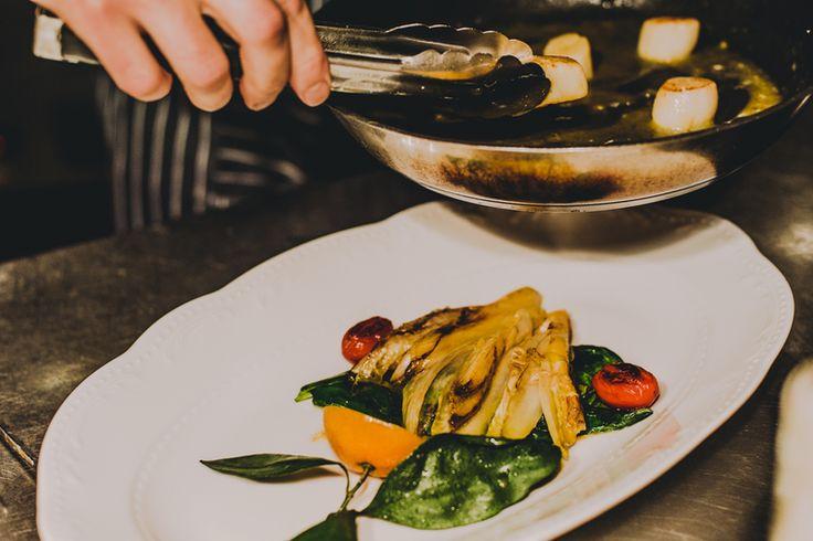 How to Green | Морские гребешки с цикорием и мандаринами