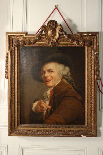 Portrait de Joseph Ducreux sous les traits d'un moqueur, suiveur de l'artiste, fin XVIIIe siècle