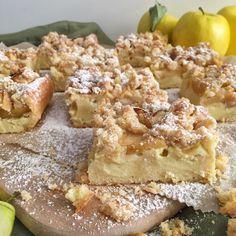 olles *Himmelsglitzerdings*: Apfelkuchen mit Pudding und Streuseln - Knuspergeburtstagsgruß fürs Knusperstübchen