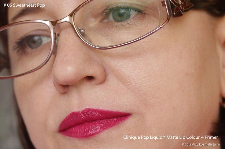 Моя очередная попытка примерить матовые губы с новой лаковой помадой Clinique Pop Liquid™ Matte Lip Colour + Primer отзывы — Косметиста