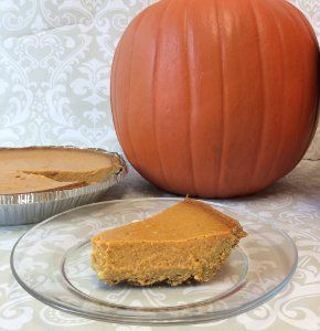 Pumpkin Pie with Graham Cracker Crust - easiest pumpkin pie I've ever made. I used the extra pie filling to make mini pumpkin pies!