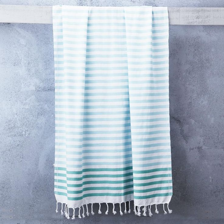 Sheker Towel Candy Stripes in Turquoise and Teal